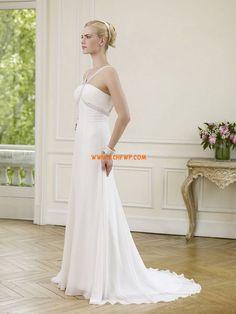 Court Train Chiffon Sleeveless Wedding Dresses 2014