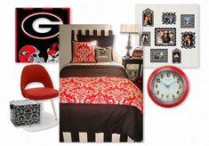 College Dorm Ideas For Girls | UGA College Dorm Room Bedding and Decor Design Inspiration - Dorm Room ...