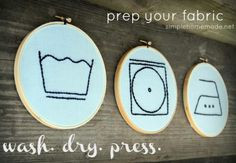 Cute idea for laundryroom art