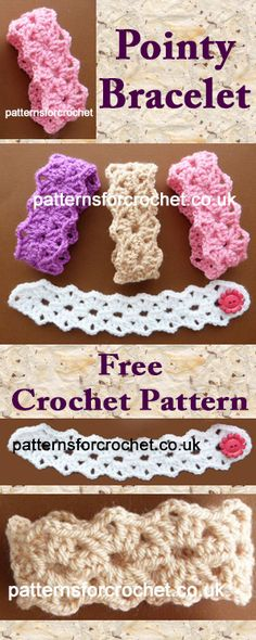 Pointy bracelet free crochet pattern #crochet