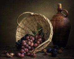 Фотограф Ирина Приходько (Irina Prihodko) - Натюрморт с корзиной винограда #2031048. 35PHOTO