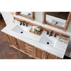 Double Sink Bathroom, White Vanity Bathroom, Vanity Set, Master Bathroom, Fashion Kids, Cottage White Bathrooms, Cabin Bathrooms, James Martin Vanity, James Martin Furniture