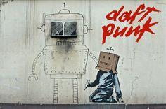 Daft Punk by Banksy