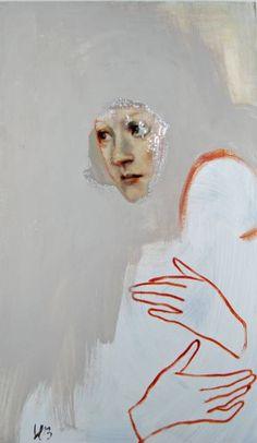 """Saatchi Art Artist Silja Selonen; Painting, """"pieni poikueni"""" #art"""