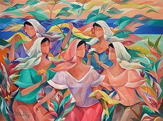 Oscar Salita - Artist, Fine Art Prices, Auction Records for Oscar Salita Filipino Art, Mexican Paintings, Philippine Art, Apple Painting, Filipiniana, Illustration Art, Illustrations, Diego Rivera, Vintage Artwork