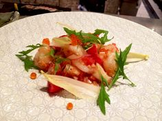 토마토 살사를 곁들인 새우와 관자 Prawn and Scallop with Tomato Salsa