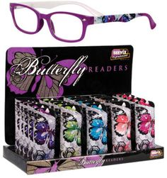 Seevix Express Butterfly Readers 25Ct Case Pack 25