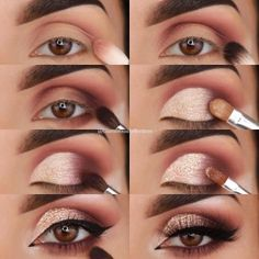 23 Pure Smokey Eye Make-up Make You Sensible eye make-up tutorial; eye make-up for brown eyes; eye make-up pure; Eye Makeup Tips, Makeup Hacks, Makeup Goals, Skin Makeup, Makeup Inspo, Eyeshadow Makeup, Makeup Ideas, Drugstore Makeup, Makeup Products