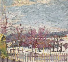 neukunstgruppe: Dorf im Winter, 1928 - Cuno Amiet posted by Vincent Nappi