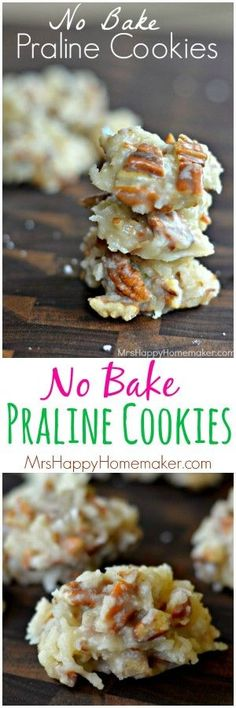 No Bake Praline Cookies – Mrs Happy Homemaker