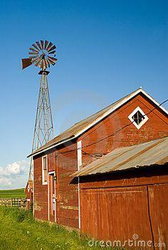 Windmill on the farm.