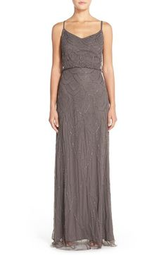 BLUSH OR GREY Candela 'Marseille' Beaded Blouson Gown (Nordstrom Exclusive) available at #Nordstrom