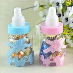 1/12X Baby Shower Baptism Christening Birthday Party Favor Candy Box Gift  Bottle