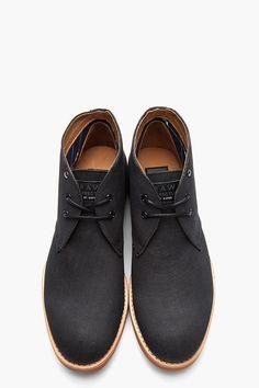 G-STAR Black Denim Chukka Boots