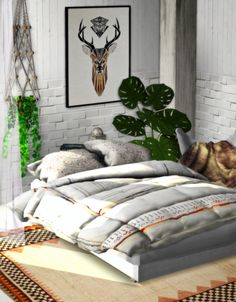 Sims 4 CC's - The Best: TS3 Blanket and Pillows Conversion by CherrySims