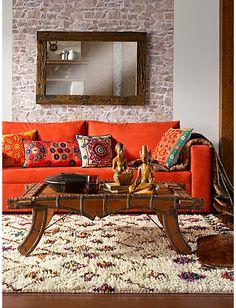 #Sofa #Teppich #Spiegel #Couchtisch #Plaid