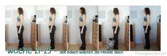 Die Schwangerschaftswochen 21-25 meiner ersten Schwangerschaft - der Bauch wächst endlich!! ;-)  http://fitundgluecklich.net/2014/04/01/schwangerschaft-wochen-21-25-pregnancy-weeks-21-25/