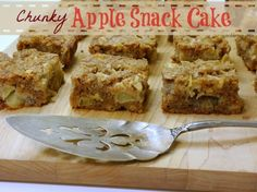 Chunky Apple Snack Cake from NoblePig.com
