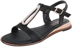 Dámské sandály s kamínky - černé Barva: černá