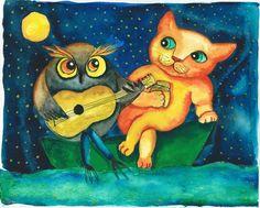 cats and owls « julia's curious art