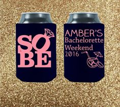 The absolute, most important rule of etiquette when it comes to bachelorette parties is this: You are celebrating a very special bride-to-be, and this weekend is all about her! Celebrate the bride in style with our variety of awesome party coolies! Don't like our designs? We can customize something unique and beautiful just for you!  Customized   Bachelorette Party Coolies by StripedPeanut on Etsy