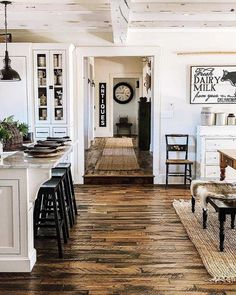 Farmhouse Flooring, Farmhouse Interior, Farmhouse Homes, Interior Exterior, Farmhouse Design, Farmhouse Decor, Farmhouse Ideas, Farmhouse Addition, Modern Farmhouse Living Room Decor