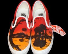 Hand Painted Vans  Koi by TKDealShoes on Etsy
