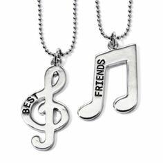 Musical best friend necklaces