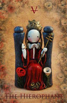 Poppet Tarot, deck in progress by Lisa Snellings