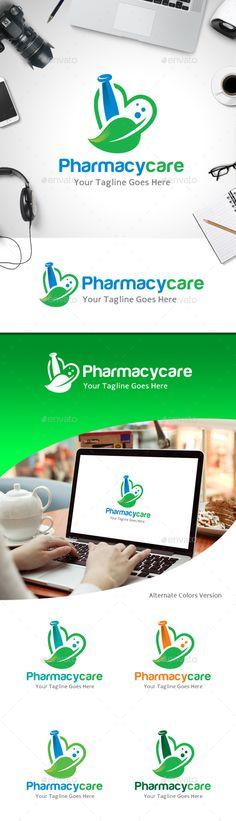 Pharmacy Care Love - Logo Design Template Vector #logotype Download it here: http://graphicriver.net/item/pharmacy-care-love-logo/11213630?s_rank=960?ref=nexion