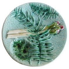 Check out this item at One Kings Lane! Majolica Asparagus Fern Wall Plate