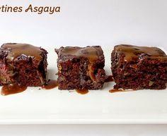 Brownie de Dos Chocolates y Mermelada de Fresa con Vinagre de Módena