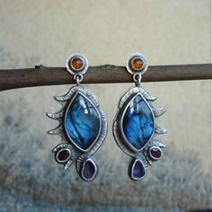Dragon,Eyes,|,Silver,Earrings,With,Labradorite,,Carnelian,,Garnet,,Amethyst,Silver Earrings With Labradorite, Silver Jewelelry