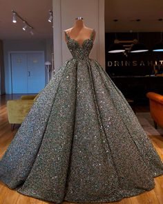 A-line Gorgeous Sparkly Sequin Shining Unique Design Long Fashion Prom Dresses, Ball gown Elegant Dresses, Pretty Dresses, Formal Dresses, Dress Married, Debut Gowns, Gala Dresses, Fantasy Dress, The Dress, Beautiful Gowns