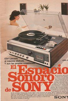 Anuncio reproductor Sony - México 1977