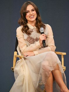 Star Tracks: Thursday, July 3, 2014 | PROPER ENGLISH | Begin Again star Keira Knightley wears her afternoon best on Wednesday to chat about the film at a London Apple store.