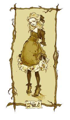 Abigail Larson Иллюстрации Алиса в стране чудес