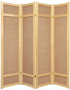 Features Shade Is Strong Tightly Woven Jute Blocks Light And Provides Complete Panel Room Dividerroom