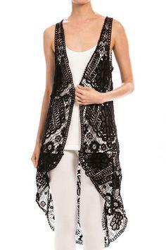 A New Clothing Top - Crochet Hi Lo Vest | Ruth & Ruth