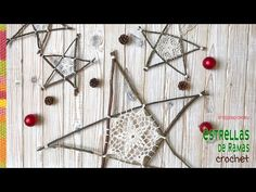 Star made with branches and crochet granny 🌟 Tejiendo Peru Christmas Yarn, Christmas Home, Crochet Stars, Crochet Granny, Rama Seca, Dream Catcher Tutorial, Xmas Gifts, Baby Wearing, Crochet Projects