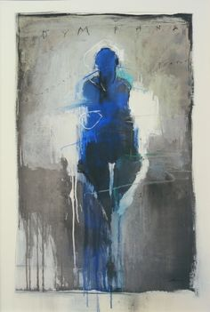 "Harry Ally Dymphna . 51 x 31"" . charcoal, pastel, acrylic on linoleum . 2007"