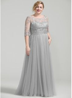 A-Line/Princess Scoop Neck Floor-Length Mother of the Bride Dress With Beading Appliques Lace Sequins - Mother of the Bride Dresses - JJ's House Mother Of The Bride Plus Size, Mother Of The Bride Dresses Long, Mothers Dresses, Plus Size Dresses To Wear To A Wedding, Vestidos Plus Size, Plus Size Gowns, Evening Dresses Plus Size, Mob Dresses, Tea Length Dresses