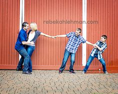 I so want to do something like this with my future husband with my younger brothers pulling me away:)  I kinda think this is cute but I also kinda think it hints a bit at rivalry between in-law. Maybe a variation of this?