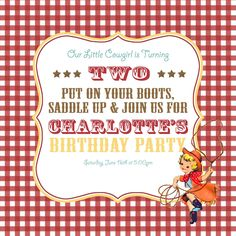 Charlotte's vintage cowgirl party! – Craftiness Is Not Optional