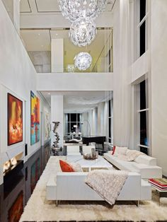 Private Residence I is a private home located in New York City, USA. Completed in 2015, it was designed by Oda New York. #livingroom #interior #home