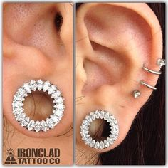 """1/2"""" marquise cut gemmed eyelets from Anatometal. I need these in my life."""