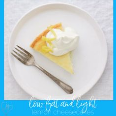 The Joy of Kosher Low-fat Lemon Cheesecake for Passover by Jamie Geller Low Fat Desserts, Healthy Dessert Recipes, Summer Desserts, Low Carb Recipes, Yummy Recipes, Healthy Food, Healthy Eating, Passover Desserts, Passover Recipes