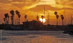 Sunset over Ventura Harbor - 9/26/15