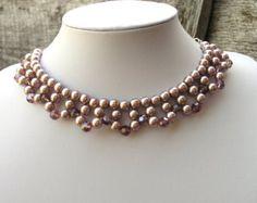 Gargantilla collar Formal gargantilla por CathysCraftyDesigns