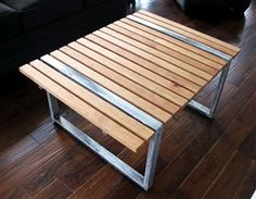 Slat Coffee Table by CameronFischerDesigns only at Fiddlin Frogs Custom Made Furniture, Steel Structure, Frogs, Contemporary Design, Custom Design, Sweet Home, Woodworking, Rustic, Coffee